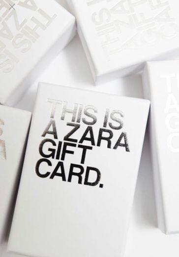 GIFT CARD ZARA NO VALOR DE 100€