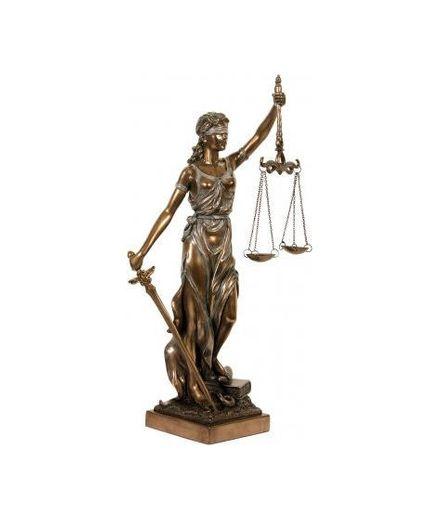Figura Decorativa de la Dama de la Justicia