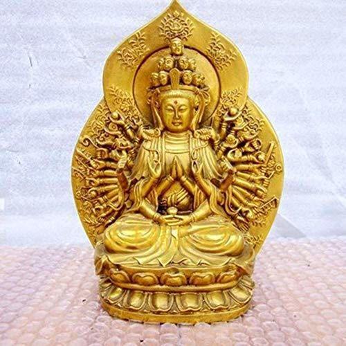 qingtianlove Estatua de Budismo Tibetano Q-Shanping Avalokiteshvara en mil Brazos, Estatua de