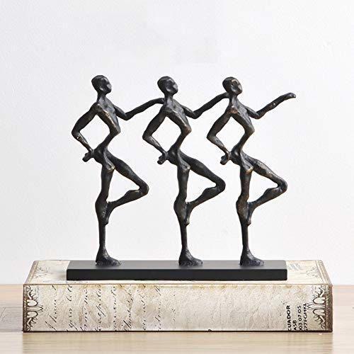 YB&GQ Antiguo Bronce-mira Gente Bailarina Escultura