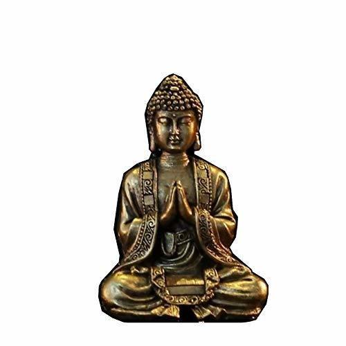 Zen Light Buda meditación Dorada Figura Decorativa