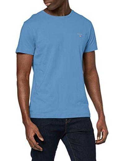 GANT The Original SS T-Shirt Camiseta, Azul