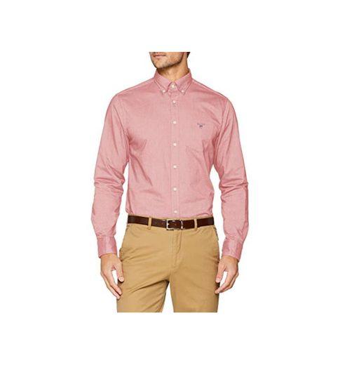 GANT The Oxford Shirt Reg BD Camisa, Rojo