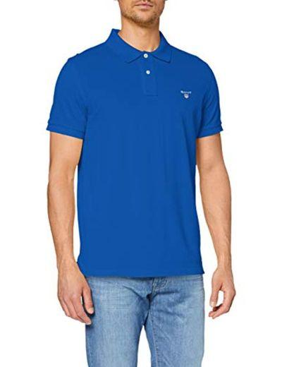 Gant Original Pique SS Rugger, Polo Para Hombre, Azul