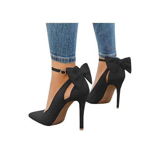 Tomwell Sandalias Mujer Arco Tacón Alto Zapatos Apuntado Zapatos Boda Fiesta Zapatos