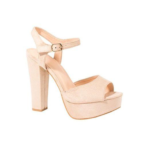 Elara - chunkyrayan - Zapatos de tacón - Plataforma cómoda - Ante