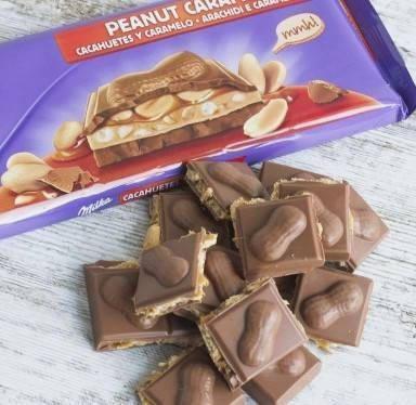 Milka caramel peanut