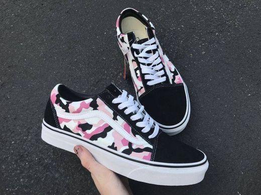 Pink Camo Vans