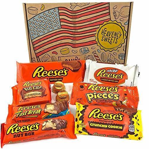 Heavenly Sweets Scatola di Snack al Cioccolato Americani Reese's - Scelta di