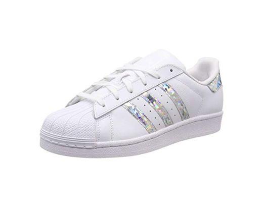 Adidas Superstar J Zapatillas de Gimnasia Unisex Niños, Blanco