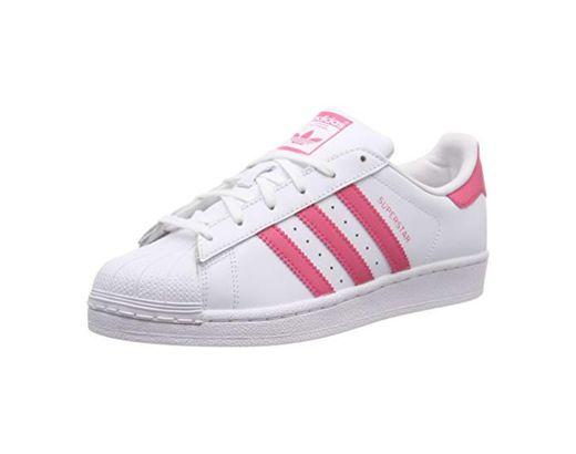 adidas Superstar J, Zapatillas de Gimnasia Unisex Niños, Blanco