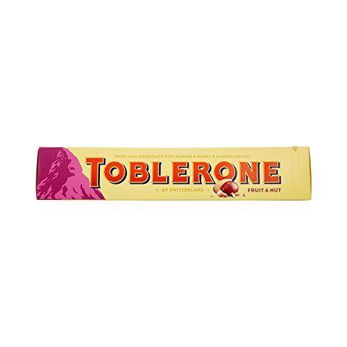 Toblerone gran barra de frutas y nueces Chocolate