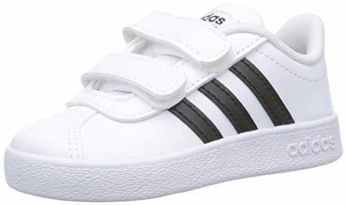adidas VL Court 2.0 CMF I, Zapatillas de Gimnasia Unisex Niños, Blanco