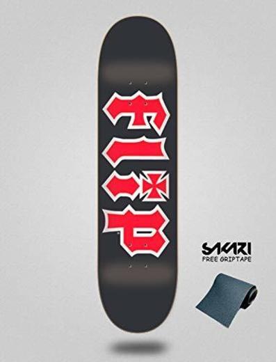 "Flip Monopatin Skate Skateboard Deck Team HKD Black 8.0""x31.5"""
