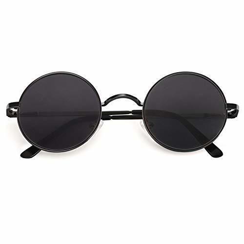 CGID E01 Estilo Vintage Retro Lennon inspirado círculo metálico redondo gafas de
