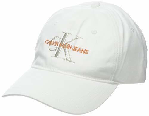 Calvin Klein J Monogram Cap W Gorra de béisbol, Blanco