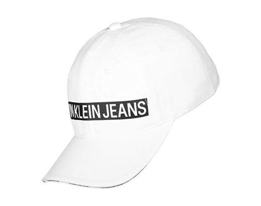 Calvin Klein J Logo Tape Cap W Gorra de béisbol, Blanco