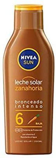 NIVEA SUN Cenoura Sun Milk FP 6 (1 x 200 ml), proteção solar