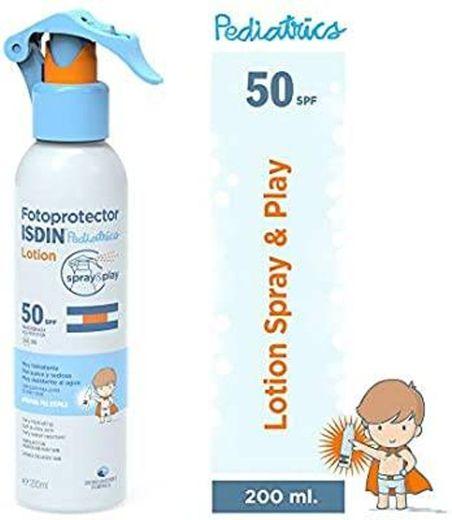 Loção para uso pediátrico ISDIN Spray & Play Protetor solar