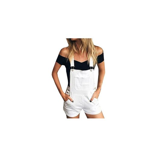 STRIR Vaqueros Mujer Cortos Pantalones Cortos de Mezclilla Mono Suelto Overoles Jeans