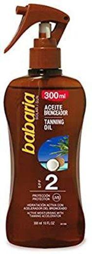 Pistola de bronzeamento solar para coco Babaria SPF2-300 ml