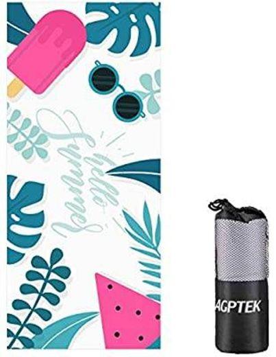 Toalha de praia AGPTEK de microfibra anti-areia para mulhere