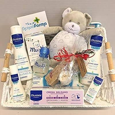 MUSTELA Cesto de presentes para recém-nascidos