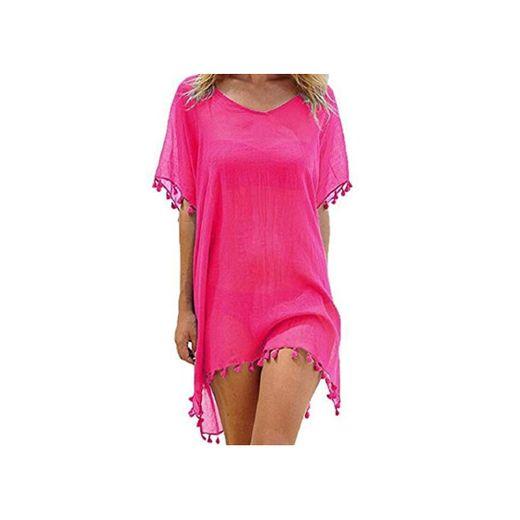 Voqeen Mujer Camisolas y Pareos Ropa de Baño Bikini Cover Up Vestido