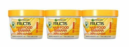 Garnier Fructis Hair Food Mascarilla Capilar 3 en 1 Banana Nutritiva para