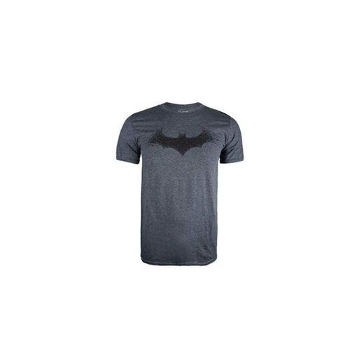DC Comics Batman-Bat Logo Camiseta, Gris