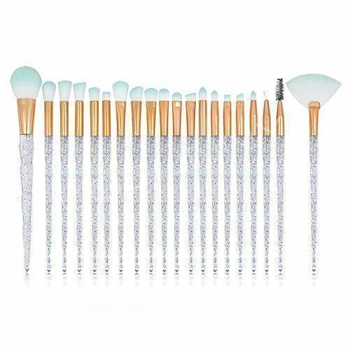 Herramientas de belleza cosmética profesional 20 piezas de maquillaje de diamantes pinceles