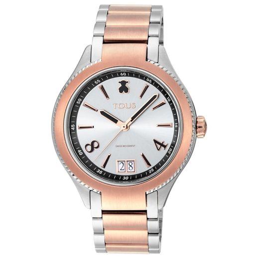Relógio ST bicolor em IP rosado/Aço - TOUS