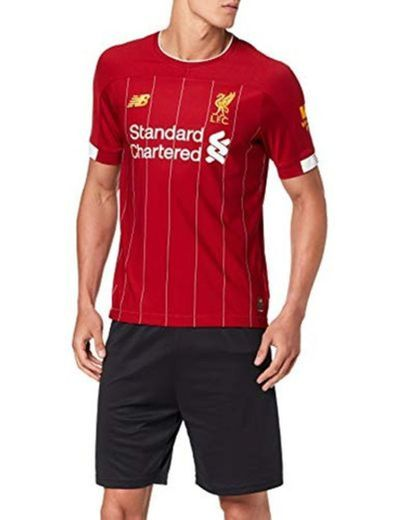 New Balance Liverpool FC Home SS Jersey No EPL Patch Camiseta Crew