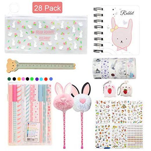 Amycute 29 piezas papelería kawaii Set para niñas