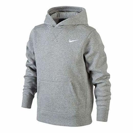 Nike Brushed Fleece Over The Head Sudadera, Niños, Gris