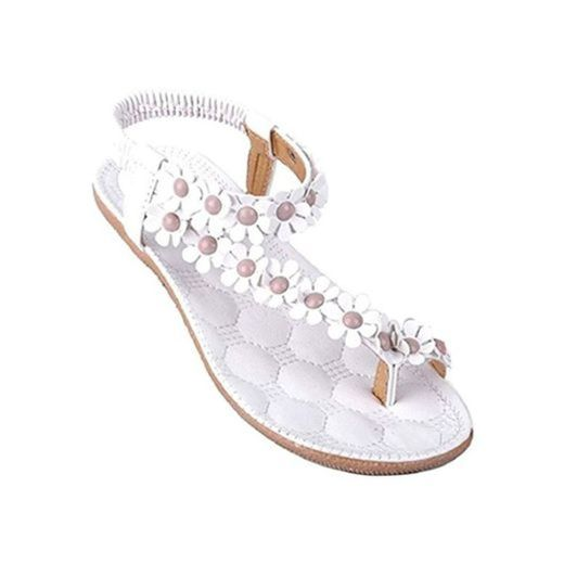 Calzado de Mujer, Zapatos de la Playa de Bohemia Dulce de Abalorios