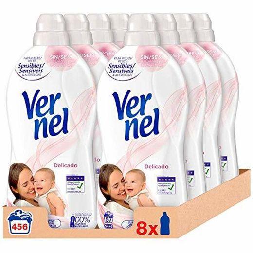 Vernel Suavizante Delicado - Pack de 8, Total: 456 Lavados