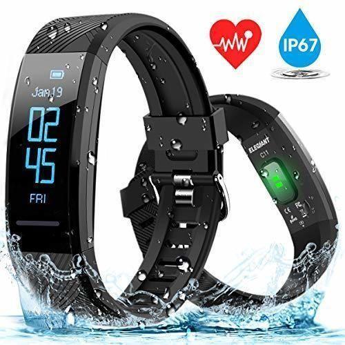 ELEGIANT Pulsera de Actividad Inteligente Reloj Deportivo IP67 para Hombre Mujer con