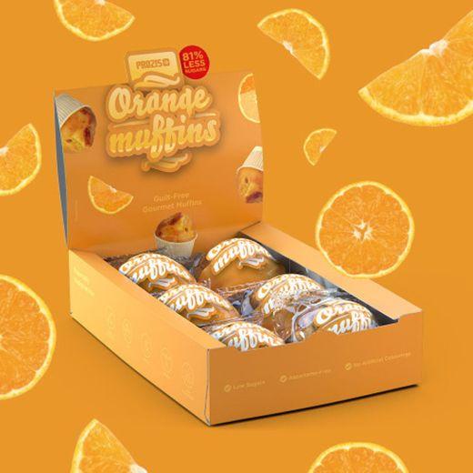 6 x Orange Muffins - Muffins com Baixo Teor de Açúcares 60 g - Prozis