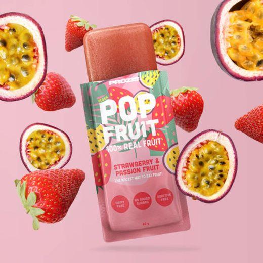 Prozis- popfruits morango e maracujá