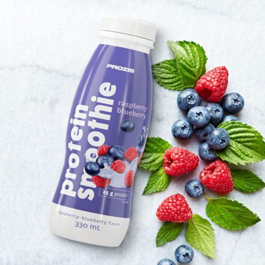 Protein Smoothie - Framboesa e Mirtilo 330 ml - Prozis