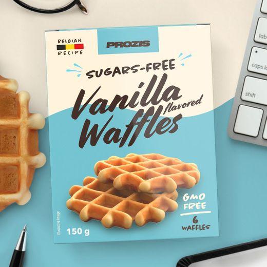 6 x Waffles com Sabor a Baunilha sem Açúcares 25 g - Prozis