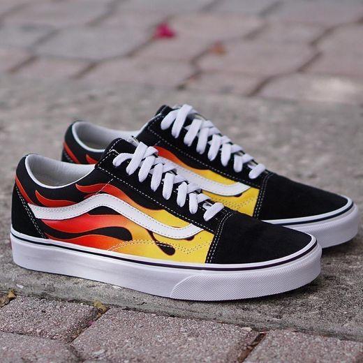 zapatillas vans hombre fuego