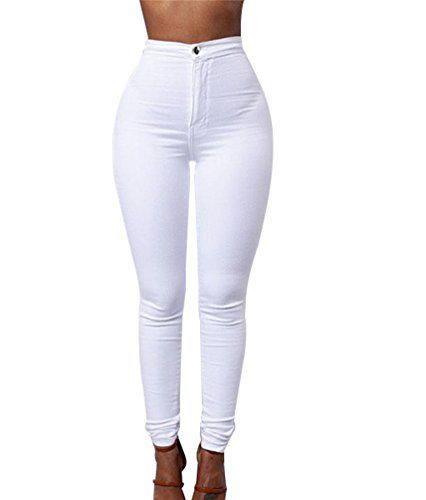 ZKOO Cintura Alta Pantalones Jeans Mujer Elástico Flacos Vaqueros Leggings Push up