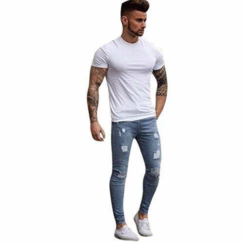 BOLAWOO Jeans Clásicos De Moda Hombre De para Jeans Mezclilla Jeans Mode
