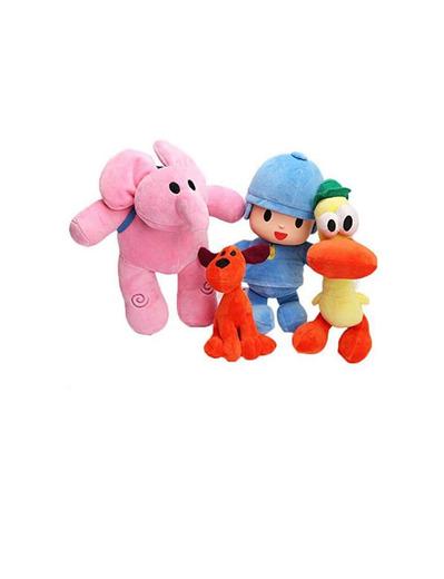 Set de 4 muñecos de Peluche Pocoyo Elly Pato Loula