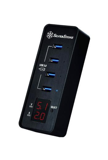 SilverStone SST-EP03 Concentrador de datos con 4 puertos USB