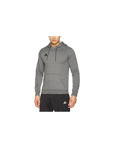 Adidas Core18 Hoody Sudadera con Capucha, Hombre, Gris