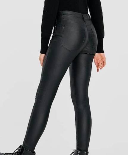 Pantalón tiro alto coating
