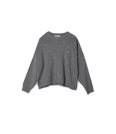Jersey apliques gris marengo